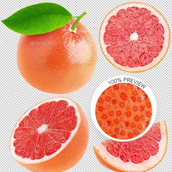 Isolated Grapefruits Photo Collection