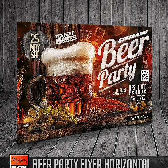 Beer Party Flyer Horizontal