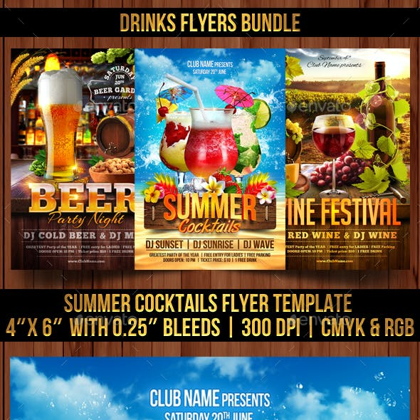 Drinks Flyers Bundle