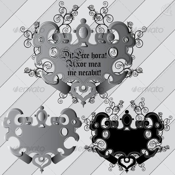 Cartouche-01 - Decorative Symbols Decorative