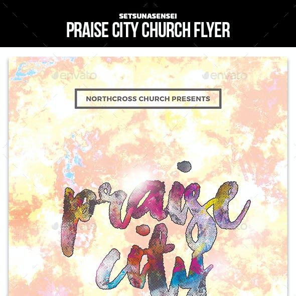 Praise City Church Flyer