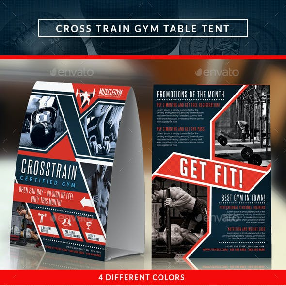 Cross Training Gym Promotion Table Tent
