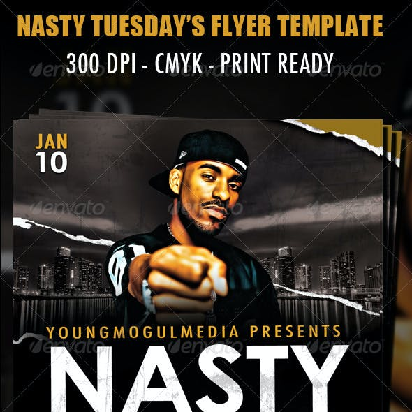 Nasty Tuesday's Flyer Template