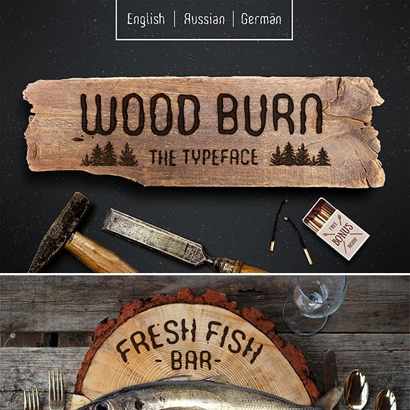 WoodBurn Font