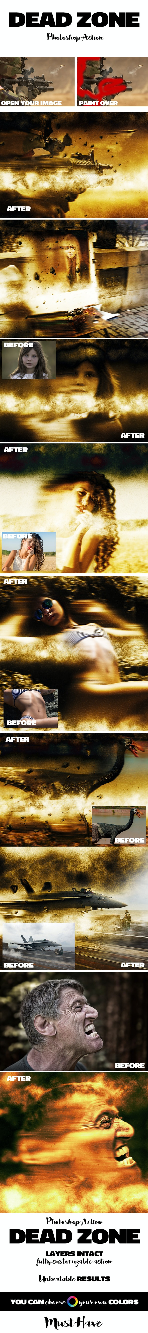 Dead Zone Fire Blast Photoshop Action - Photo Effects Actions