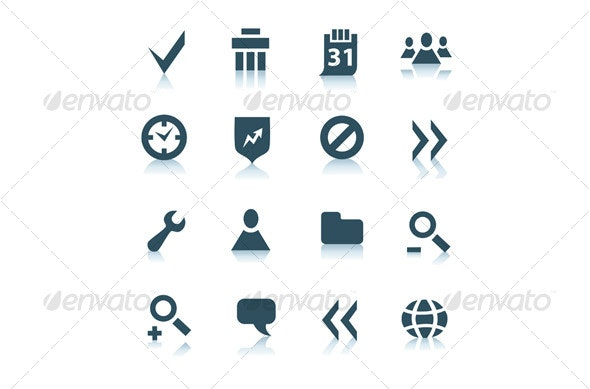 Gray internet icons, part 2 - Decorative Symbols Decorative