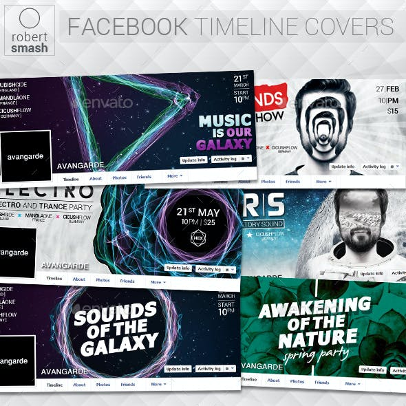 6 Music Event Facebook Timeline Covers vol.5