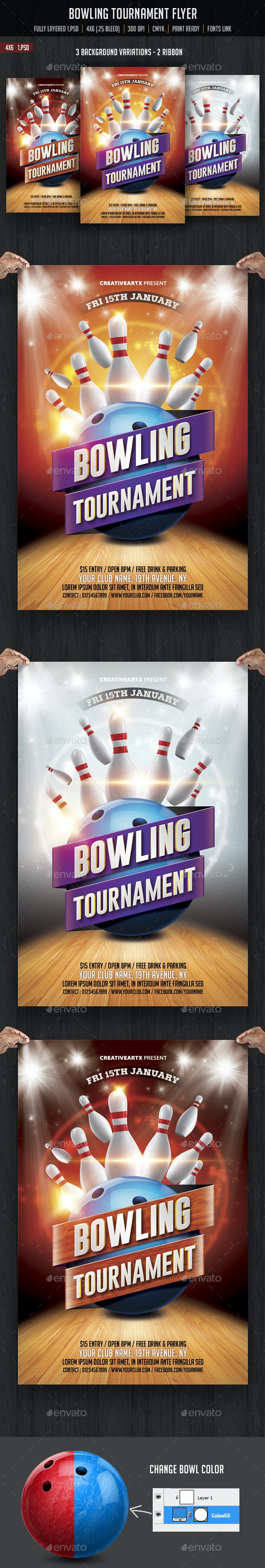 Bowling Tournament Flyer - Sports Events