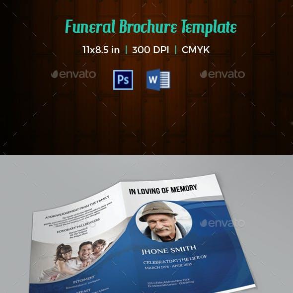 Memorial Funeral Program Template-V58