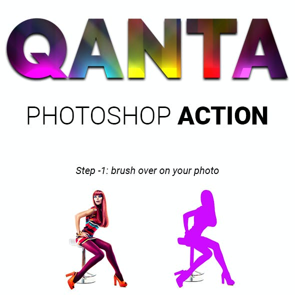 QANTA - Neon light glowing Effect Photoshop Actions