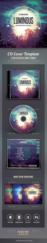 Luminous CD Cover Artwork - CD & DVD Artwork Print Templates