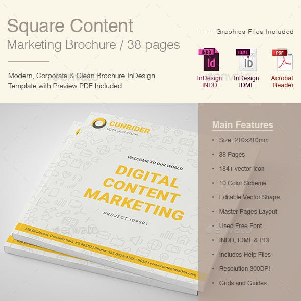Square Content Marketing Brochure