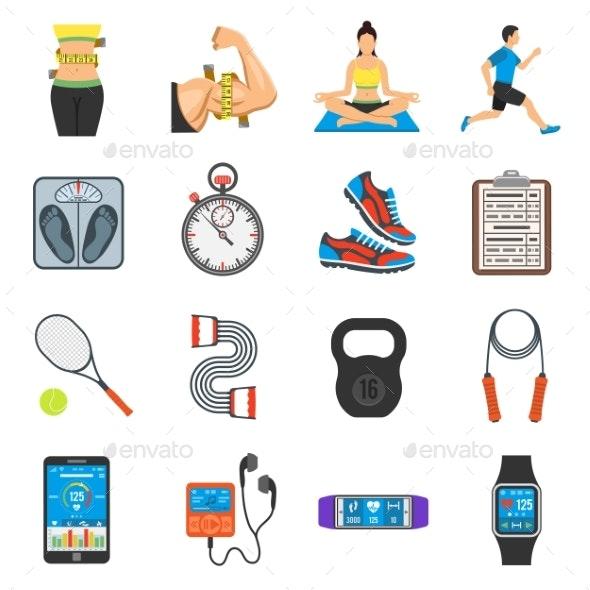 Fitness Icon Set - Sports/Activity Conceptual