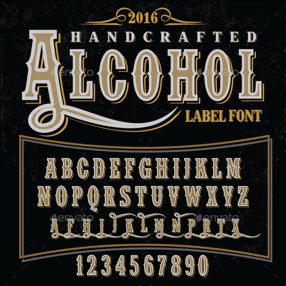 Handcrafted Alcohol Label Font