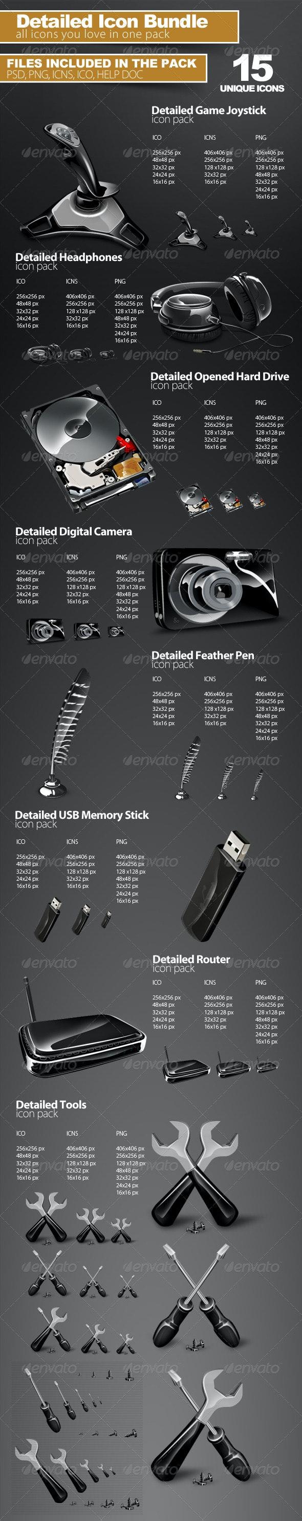 Detailed Icon Bundle - Technology Icons