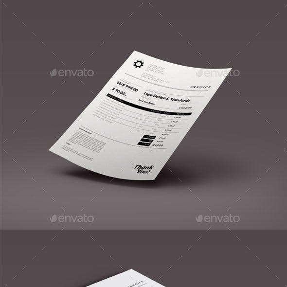 Retro Minimal Invoice Template
