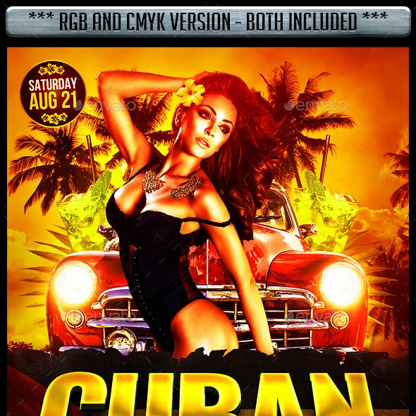 Cuban Latin Flyer Template
