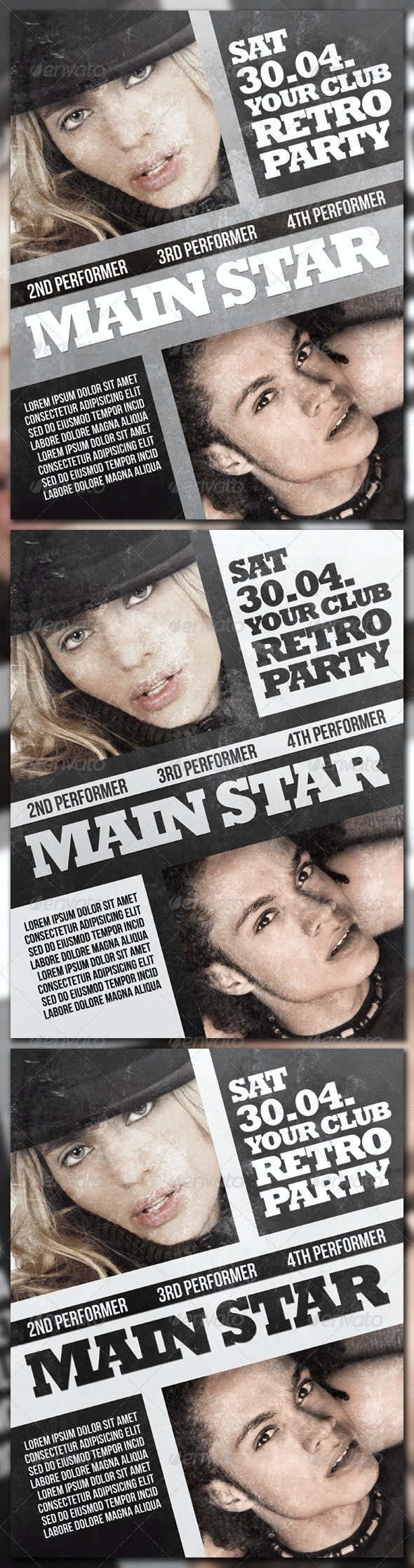 Retro Party Poster - Clubs & Parties Events