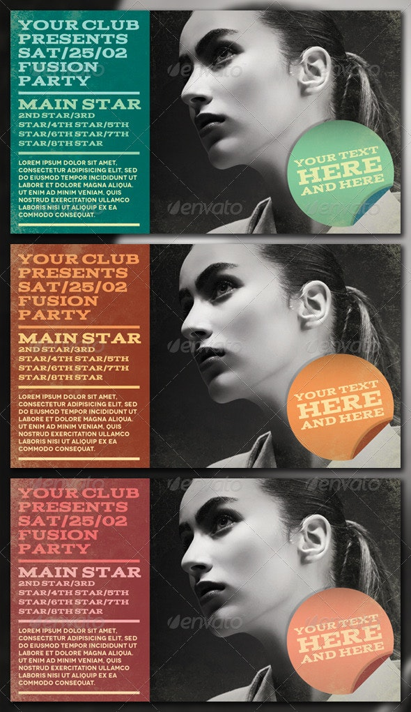Fusion Party Flyer - Clubs & Parties Events