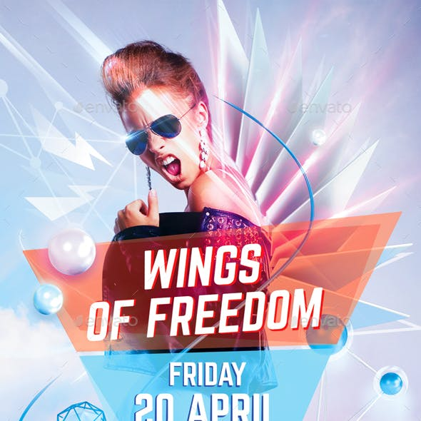 Wings Of Freedom Party Flyer