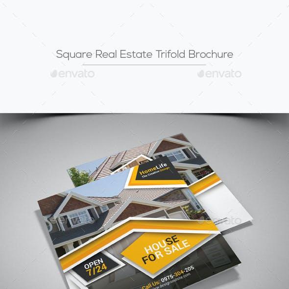 Square Real Estate Trifold Brochure