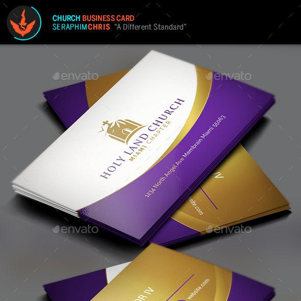 Royal Church Business Card Template