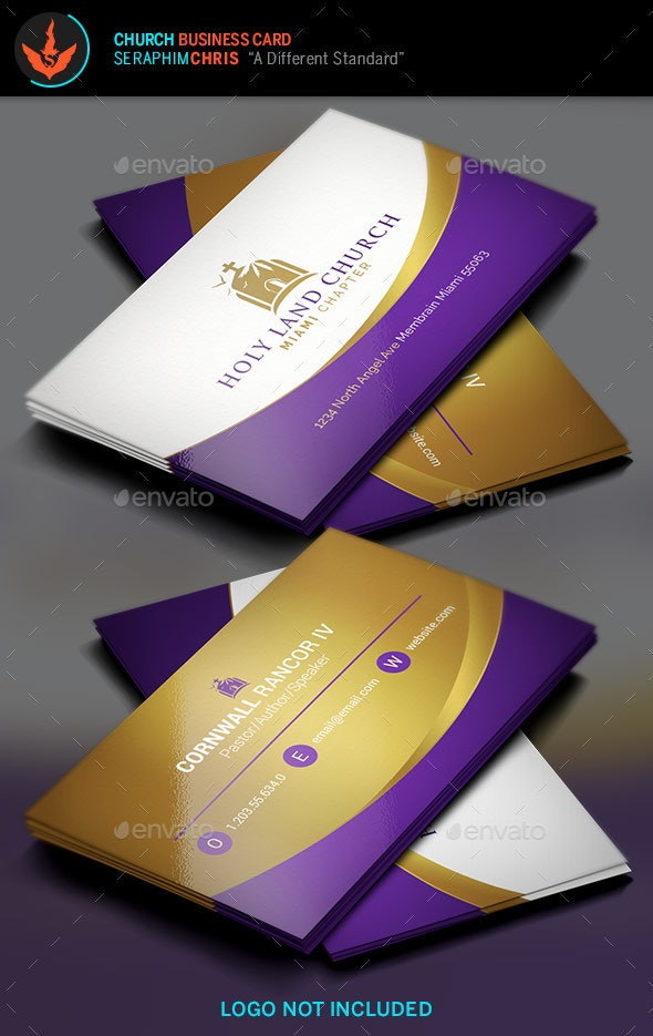 Royal Church Business Card Template - Corporate Business Cards