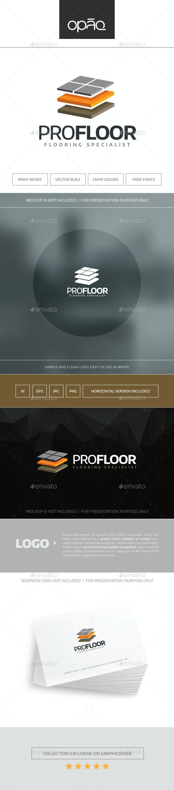 Pro Floor Logo - Objects Logo Templates