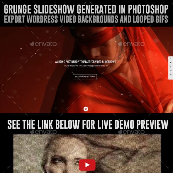 Video Slideshows, Website Backgrounds, animated Gifs in Photoshop