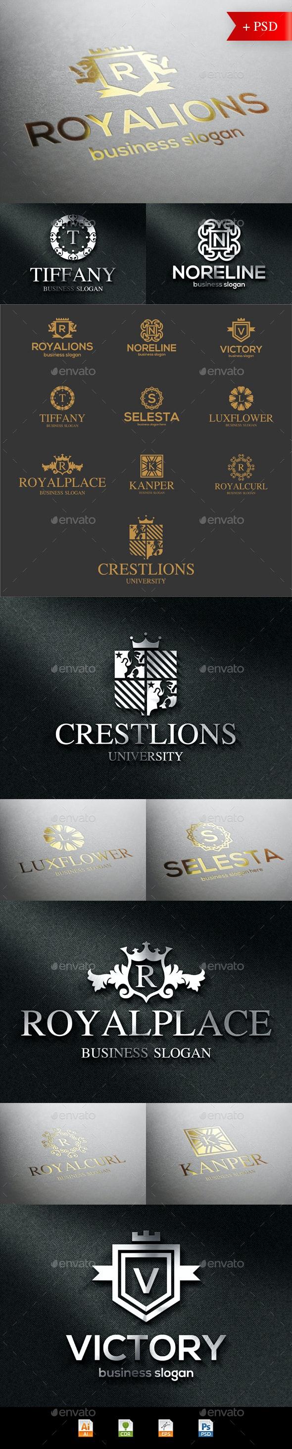Crest Badge Boutique Luxury Logo Emblems - Badges & Stickers Web Elements
