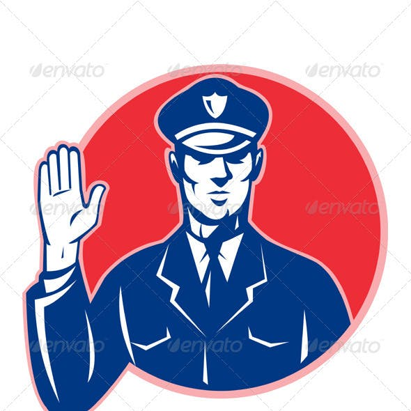 Police Officer Policeman Stop Hand