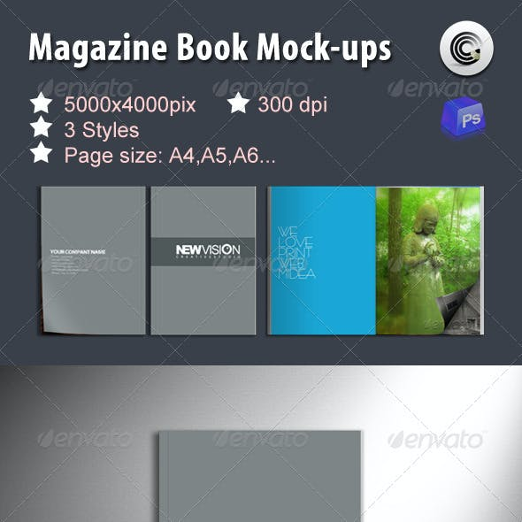 Magazine Book Mock-ups