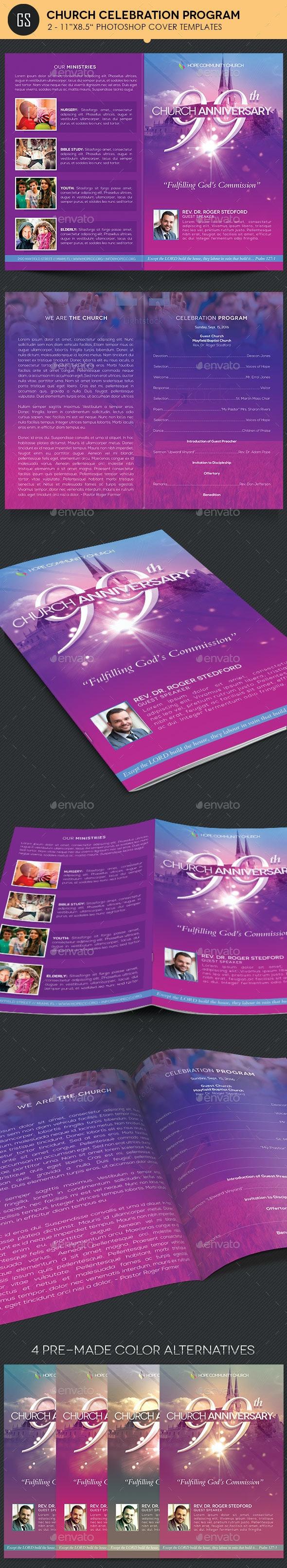 Church Celebration Program Template - Informational Brochures