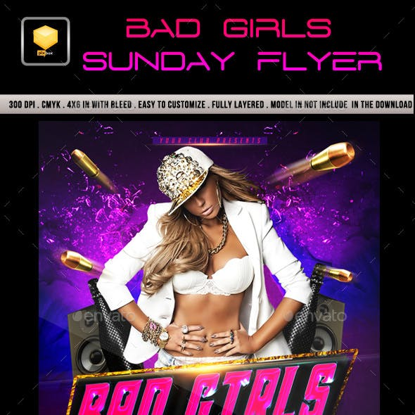 Bad Girls Sunday Flyer