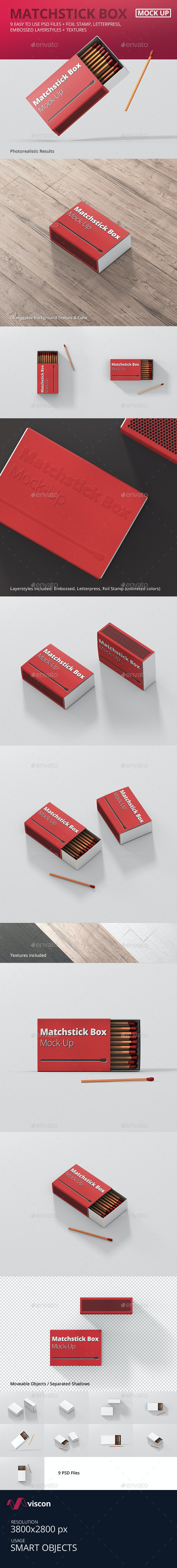 Match Box Mock-Up - Miscellaneous Packaging