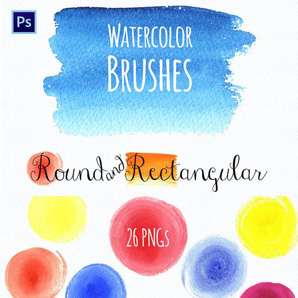Watercolor Round & Rectangular Brushes