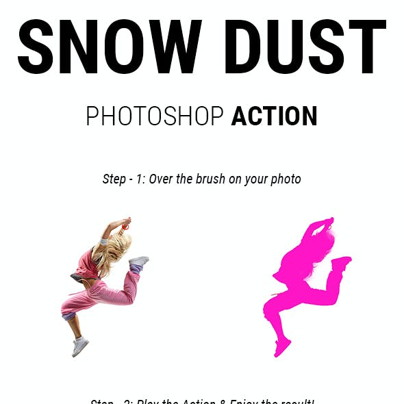 Snow Dust - Snow Dust Light Glowing Effect Photoshop Actions