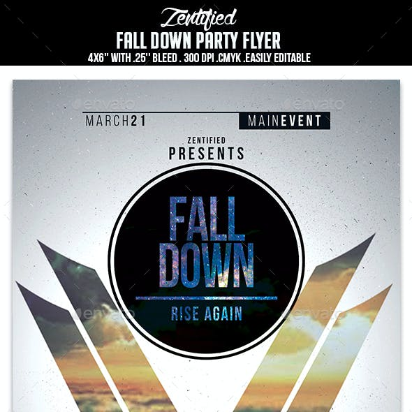 Fall Down Party Flyer