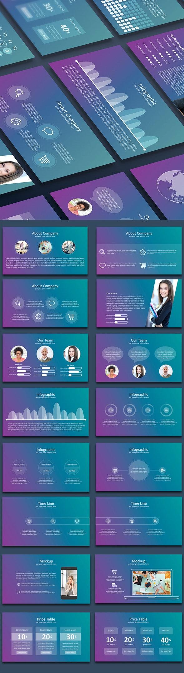Blur - Google Slide - Google Slides Presentation Templates