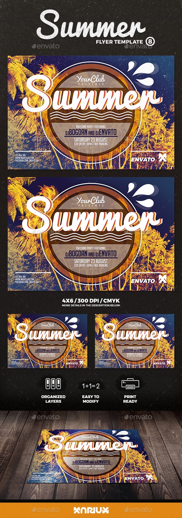 Summer Flyer 8 - Clubs & Parties Events