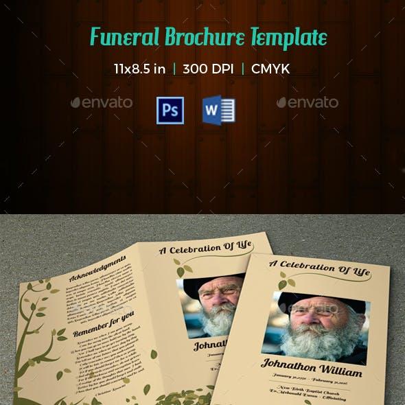 Memorial Funeral Program Template-V59