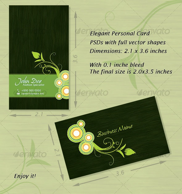 Elegant Personal or Business Card - Creative Business Cards