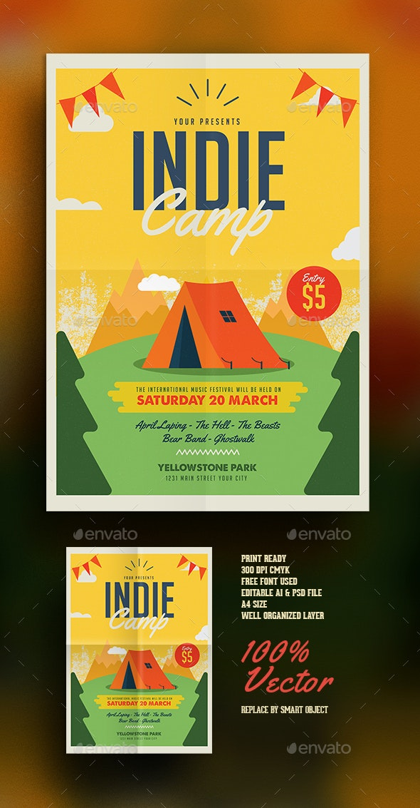 Indie Camp Vol 02 - Events Flyers