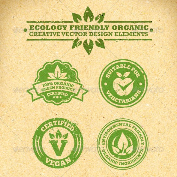 Ecology Friendly Organic Vector Design Elements
