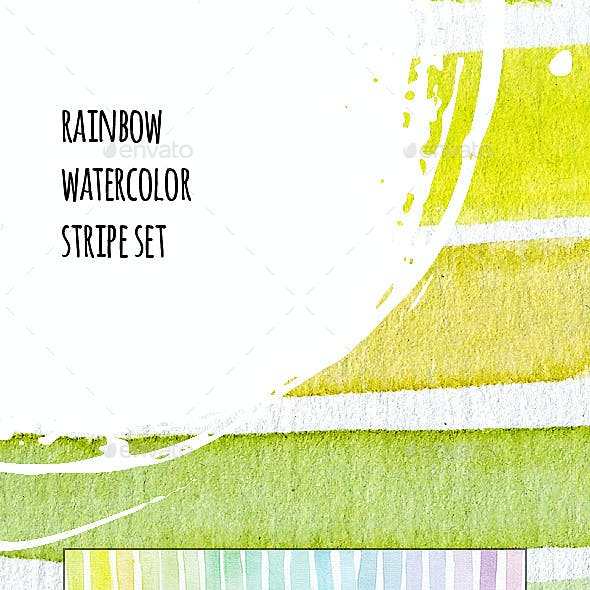 Rainbow Stripes Templates Set