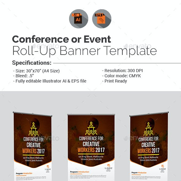 Conference/Event Roll-Up Banner Template