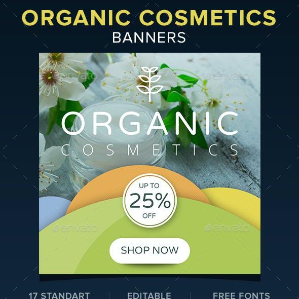 Organic Cosmetics Banners