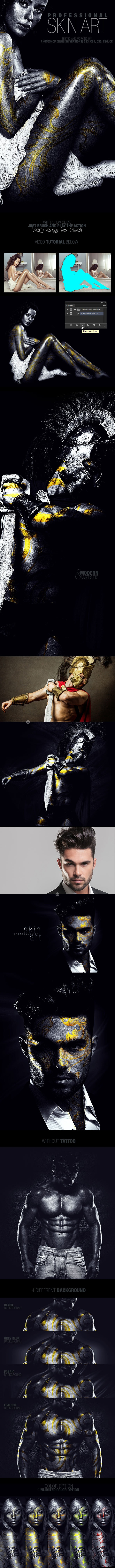 Professional Skin Art Photoshop Action - Photo Effects Actions