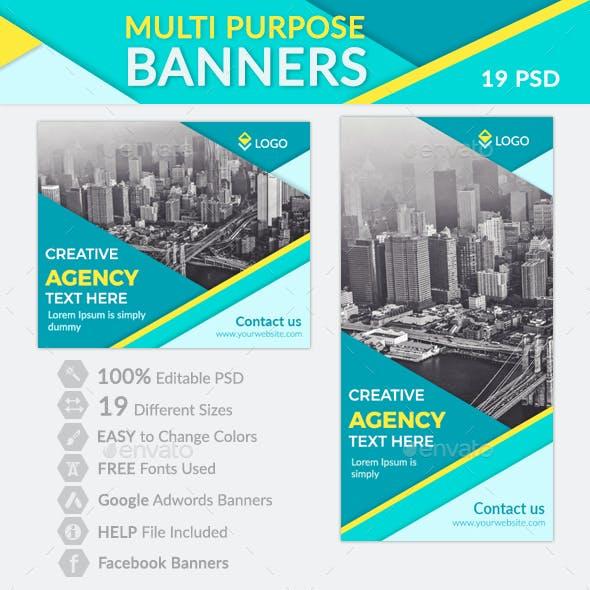 Multipurpose Material Banners