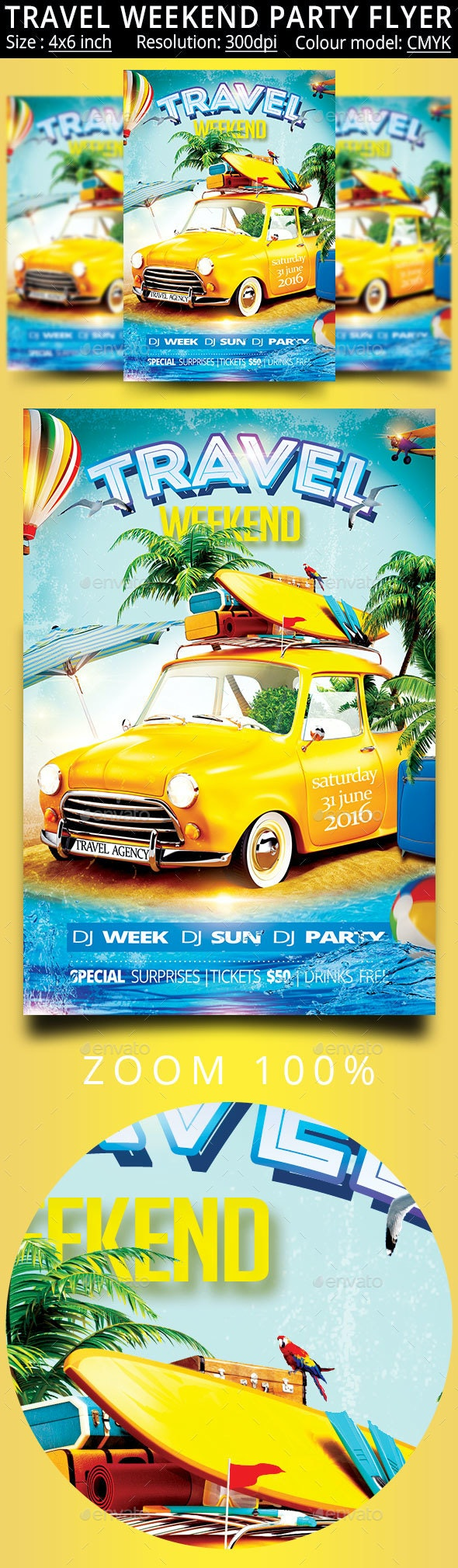 Travel Weekend - Events Flyers